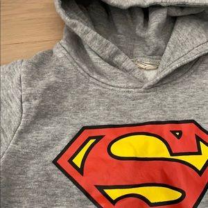 H&M Shirts & Tops - H&M Superman Hooded Sweatshirt Toddler 2-4
